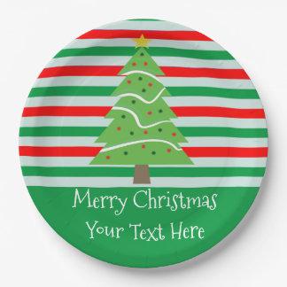 Assiettes En Papier Plats faits sur commande d'arbre de Noël avec des