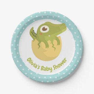 Assiettes En Papier Plats mignons de baby shower de pois d'oeufs