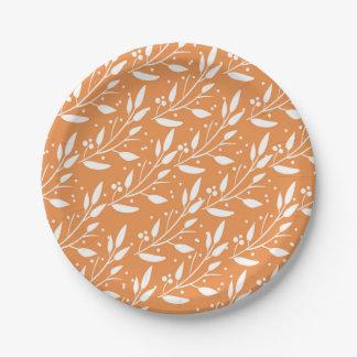 Assiettes En Papier Plats oranges de baby shower de forêt de région