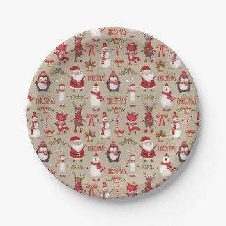 Assiettes En Papier Plats orientés de partie de Noël