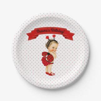 Assiettes En Papier Points de rouge de bébé de thème de coccinelle