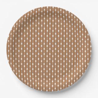 Assiettes En Papier Points ovales dans la ligne - plaque à papier