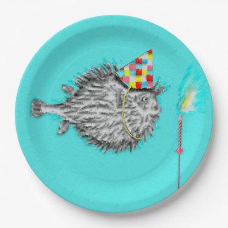 Assiettes En Papier Poissons drôles d'anniversaire