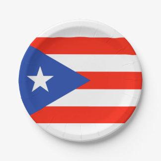 Assiettes En Papier Portoricain Bandera 4Teresa de fiesta de Boricua