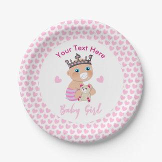 Assiettes En Papier Princesse mignonne Shower Personalized de bébé de