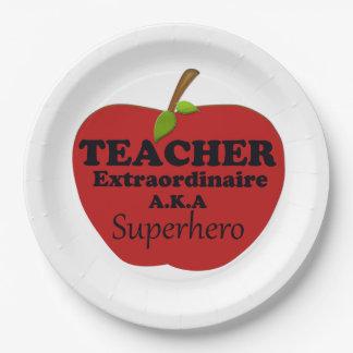 Assiettes En Papier Professeur Extraordinaire