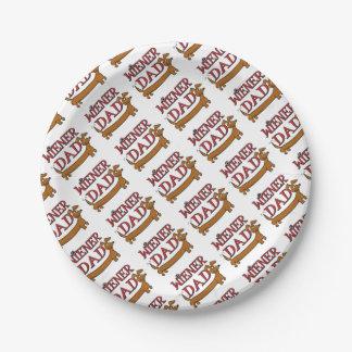 Assiettes En Papier Saucisse-Papa-Simple
