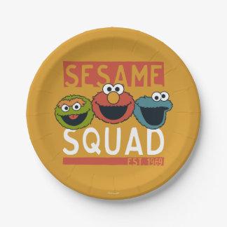 Assiettes En Papier Sesame Street - peloton de sésame