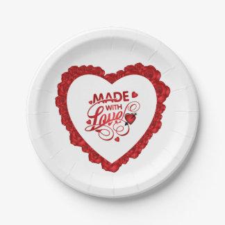 Assiettes En Papier Simple fait avec la plaque à papier de Valentine