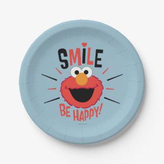 Assiettes En Papier Sourire heureux d'Elmo