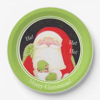 Assiettes En Papier Soyez gai ! Plaques à papier de Noël classique