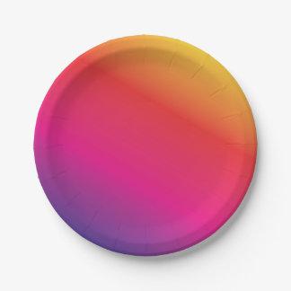 Assiettes En Papier Spectre d'arc-en-ciel coloré