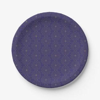 Assiettes En Papier Starburst moderne pour les plaques à papier de