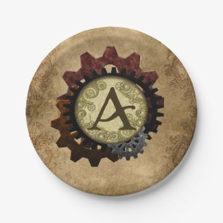 Steampunk grunge embraye la lettre A de monogramme