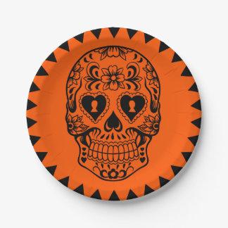 Assiettes En Papier Sucrez le crâne, jour des plats morts