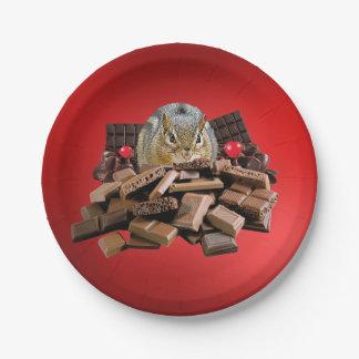 Assiettes En Papier Tamia de chocolat de Saint-Valentin