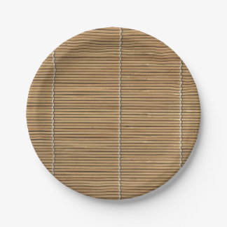 Assiettes En Papier Tapis en bambou de plage plaque à papier de 7