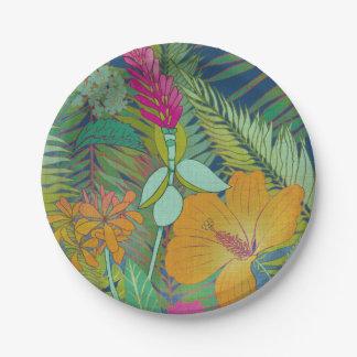 Assiettes En Papier Tapisserie tropicale II