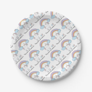 Assiettes En Papier Tee - shirt de licorne