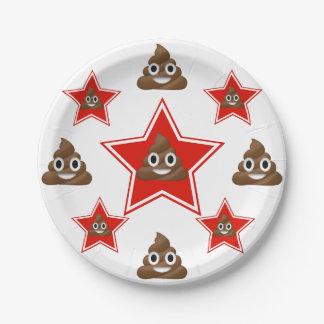 Assiettes En Papier Tenez le premier rôle un Emoji Poo