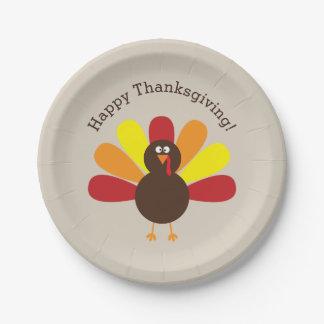 Assiettes En Papier Thanksgiving fait sur commande Turquie d'amusement