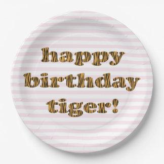 Assiettes En Papier Tigre de joyeux anniversaire ! Copie de tigre