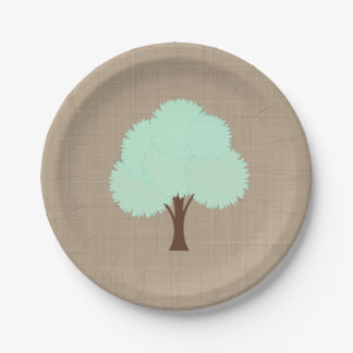 Assiettes En Papier Toile de jute rustique d'arbre d'automne