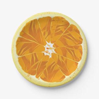 Assiettes En Papier Tranche d'orange d'agrumes