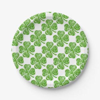 Assiettes En Papier Trèfle Celtique