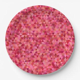 Assiettes En Papier Triangles roses