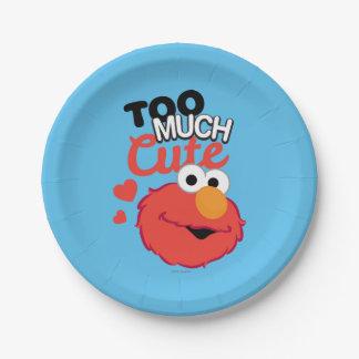 Assiettes En Papier Trop d'Elmo mignon