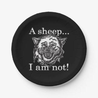Assiettes En Papier Un mouton, je ne suis pas