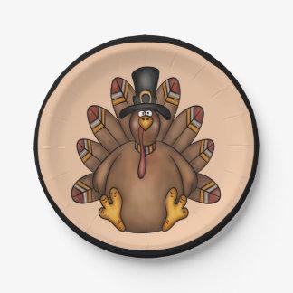 Assiettes En Papier Vacances de Tom Turquie de thanksgiving