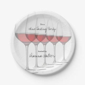 Assiettes En Papier Verres grands élégants de vin rouge