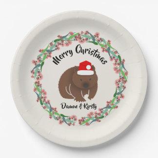 Assiettes En Papier Wombat de Noël