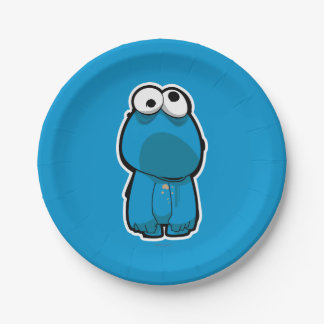 Assiettes En Papier Zombi de monstre de biscuit