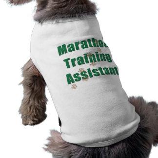 Assistant de formation de marathon t-shirt pour chien
