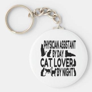 Assistant de médecin d'amoureux des chats porte-clés