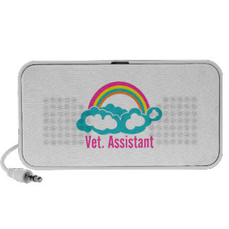 Assistant de vétérinaire d arc-en-ciel haut-parleurs iPod