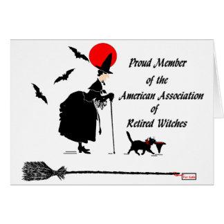 Association américaine des sorcières retirées cartes de vœux