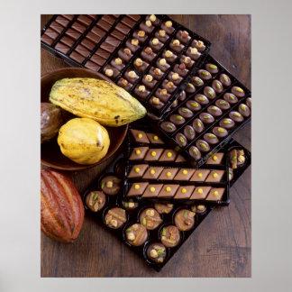 Assortiment de chocolat pour Noël pour l'usage ded Affiche