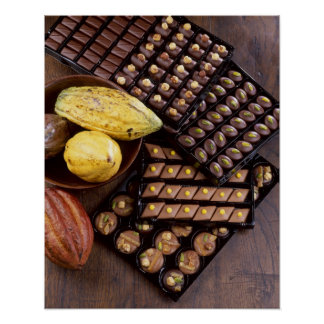 Assortiment de chocolat pour Noël pour l'usage ded Poster