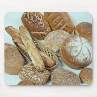 Assortiment de pain tapis de souris