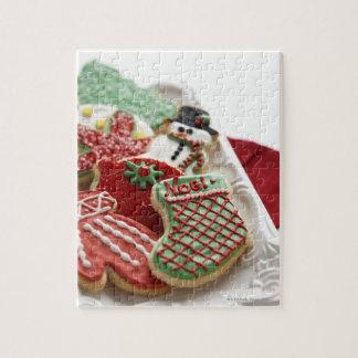 assortiment des biscuits de fête de vacances puzzle