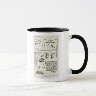 Assortiment des outils de jardinage, du 'Encyclope Mug