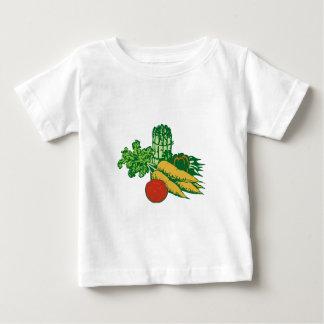 Assortiment végétal stylisé t-shirt pour bébé