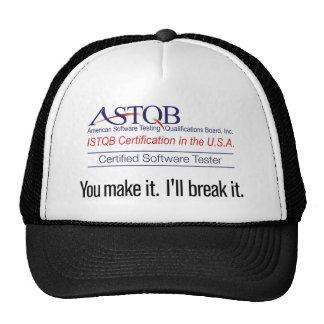 ASTQB a certifié l'appareil de contrôle de Casquettes