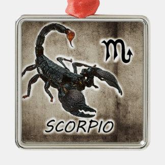 astrologie 2017 de Scorpion Ornement Carré Argenté
