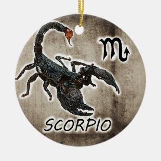 astrologie 2017 de Scorpion Ornement Rond En Céramique