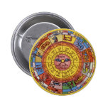 Astrologie céleste vintage, roue antique de badges
